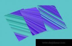 绿松石和浅石板蓝的抽象条纹背景素材下载(JPG)