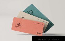 高品质的逼真质感优惠券门票入场券房地产名片设计