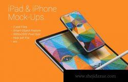 iPad和iPhone APP UI样机展示模型mockups