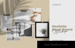 时尚高端简约相框照片海报设计样机展示模型