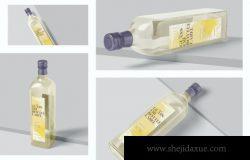 长方形玻璃油瓶包装设计展示样机(PSD