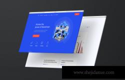 响应式网站浏览器网页设计展示样机(PSD)
