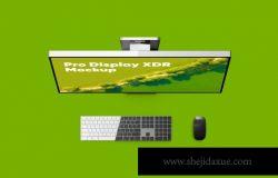 一体机桌面电脑(浅色和深色)样机下载(PSD)