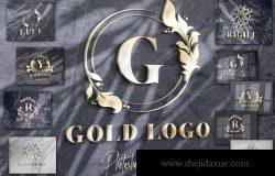 3D立体logo标志设计VI设计品牌墙LOGO墙企业形象样机