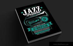 爵士音乐节活动海报传单设计模板