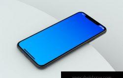 iPhone 11 PSD 透视角度简单场景样机(PSD)