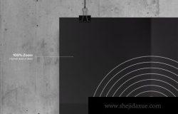 个性海报设计展示样机(PSD)
