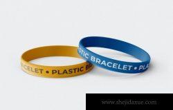 逼真质感橡胶手环手链NBA周边包装设计VI样机展示
