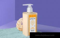 肥皂和洗手液品牌包装设计样机(PSD)