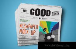 手持报纸设计展示效果样机(PSD)