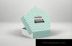 五角大楼风格糕点盒包装模型(PSD)