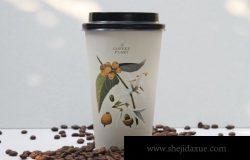 常用一次性环保咖啡杯设计样机(PSD)