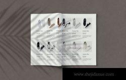 简单的杂志或画册设计展示样机(PSD)