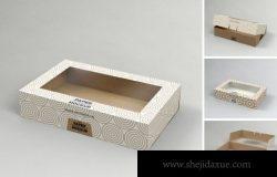 带窗口包装的纸翻盖机顶盒模型(PSD)