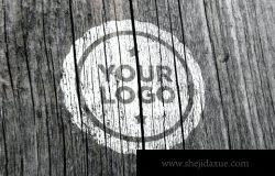 木质logo设计样机(PSD)