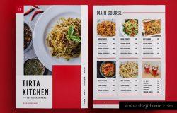高档意式餐厅菜单设计PSD模板 Restaurant Menu