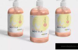 沐浴露洗发水按压瓶分装器外观设计样机 Dispenser Pump Bottle Mockup