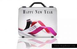 商务旅行手提箱/行李箱外观设计样机模板 Business suitcase Mockup