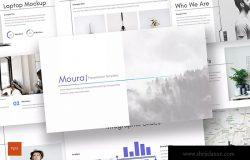 企业里程碑企业宣传PPT幻灯片模板 Moura – Powerpoint Template