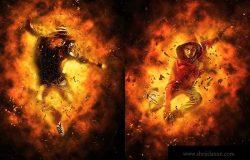 烈焰焚烧照片特效PS动作