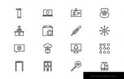 60枚安全主题矢量图标素材 Security Icons (60 Icons)
