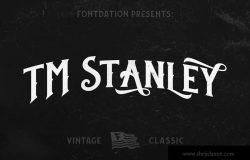 复古Old School风格经典装饰字体 TM Stanley
