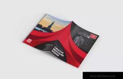 简单易用企业宣传小册画册设计EPS模板 Bifold Brochure