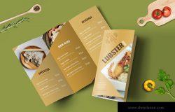 经典三折页排版设计高端西餐厅菜单模板