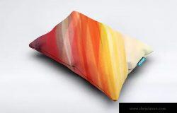 织物头枕靠枕印花设计样机模板 Fabric Pillow Mock-Up