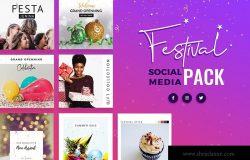 节日主题社交推广设计素材包 Festival Season Social Media Templates