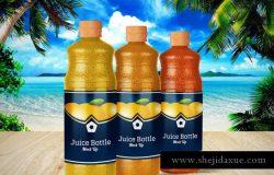 果汁饮料瓶外观包装样机v4 Juice Bottle V.4