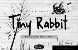 小兔子手写字体Tiny Rabbit Handwriting Font