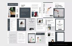 极简设计风格电子书/工作手册设计模板 Minimalist eBook / Workbook Template