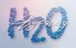 创意乳胶结构3D立体英文字体PNG素材