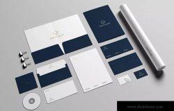 品牌VI设计预览办公用品标准套件样机模板v1 Stationery / Branding Mock-Up