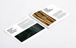 横版规格产品目录杂志内页排版设计样机模板