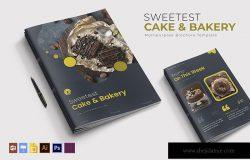 美味蛋糕房&烘培面包主题宣传画册模板