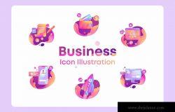 商业/金融/市场营销主题彩色矢量图标 Business, Finance, marketing Icon Illustration