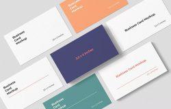企业名片设计效果图样机模板 Business Card Mockups