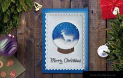 立体剪纸艺术风格圣诞节贺卡设计模板 Christmas Card Template