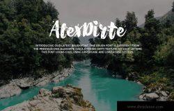 斑点脏纹理英文粗体笔刷艺术字体 Alexdirte Brush Font