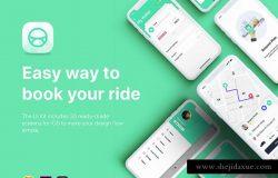 网约车打车出行应用UI套件 Taxi Booking App UI Kit
