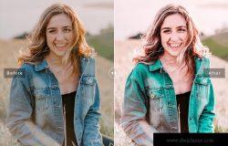 阳光风格肖像摄影滤镜LR调色预设 Blush Mobile & Desktop Lightroom Presets