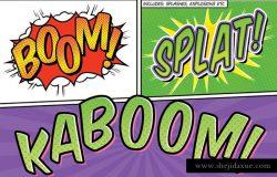 欧美漫画书文本/标题图层样式 Comic Book Text Styles