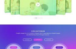 4款多彩的极简主义教育学网页PSD分层模版素材