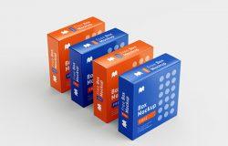 精致的矩形正方形盒子设计提案样机PSD模板 Box Mockup