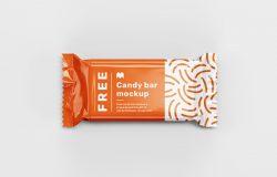 糖果包装设计提案展示样机PSD模板 Candy Bar Mockup