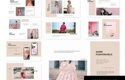 粉色女性主题适用的Keynote幻灯片模板 Seasone | Keynote Template