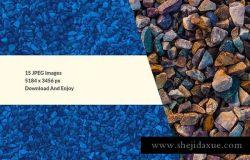 五颜六色岩石高清照片背景素材