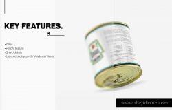 样机 | 食品饮料锡罐包装高品质智能对象